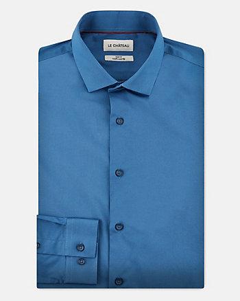 Stretch Cotton Poplin Slim Fit Shirt