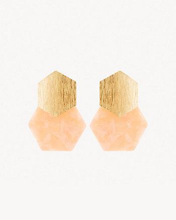 Pendants d'oreilles à hexagones