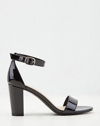 Sandale en similicuir verni