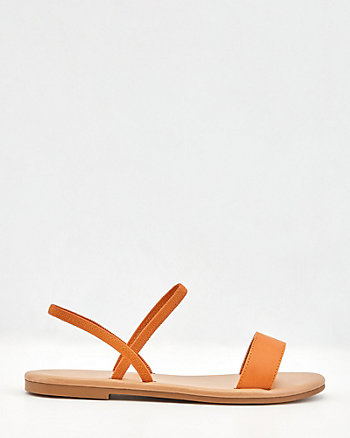 Faux Leather Slingback Sandal