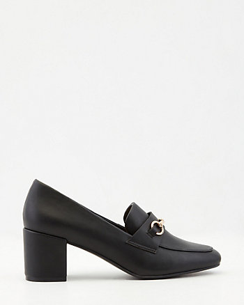 Faux Leather Loafer Pump