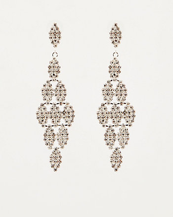 Gem Encrusted Drop Earrings
