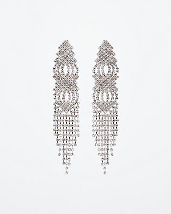 Gem Chandelier Fringe Earrings