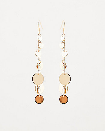 Disc Chain Drop Earrings