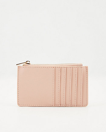 Saffiano Faux Leather Card Holder