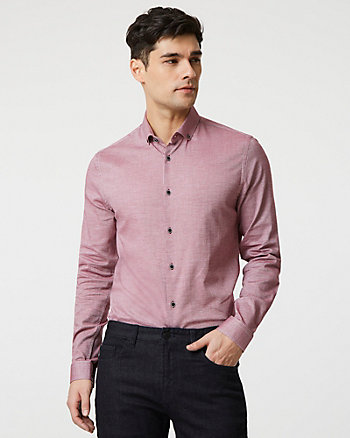 Stretch Cotton Piqué Slim Fit Shirt