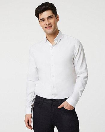 Stretch Cotton Piqué Slim Fit Shirt