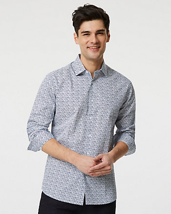 Abstract Print Cotton Tailored Fit Shirt