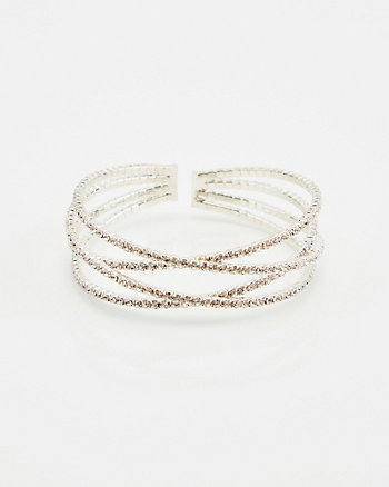 Gem Encrusted Criss-Cross Bracelet