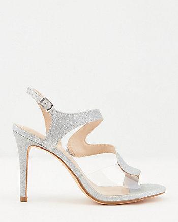 Glitter Mesh Asymmetrical Sandal