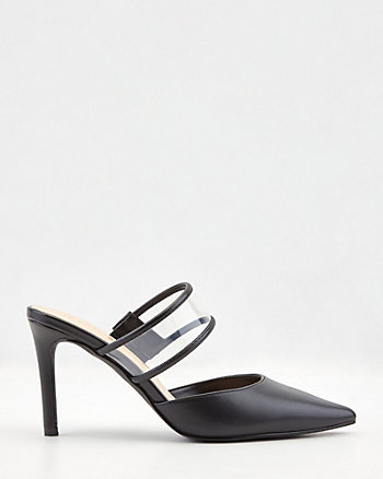 Patent Faux Leather Pointy Toe Mule