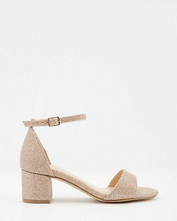Glitter Open Toe Ankle Strap Sandal