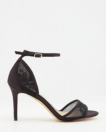 Sandale en satin et dentelle