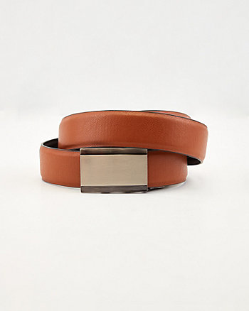 Reversible Stretch Faux Leather Belt