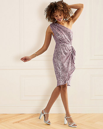 Sequin One Shoulder Dress