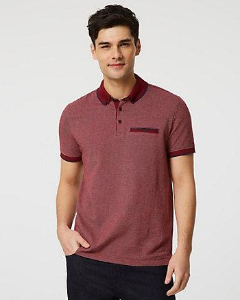 Button-Front Cotton Polo Shirt