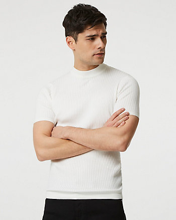 Knit Mock Neck Slim Fit Sweater