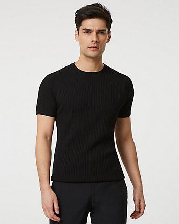 Knit Crew Neck Slim Fit Sweater