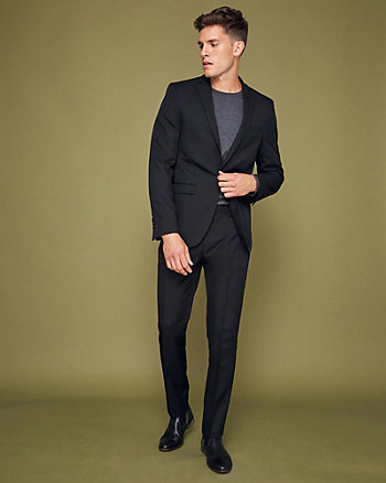 Mechanical Stretch Notch Collar Blazer