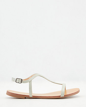 Patent Faux Leather Sandal