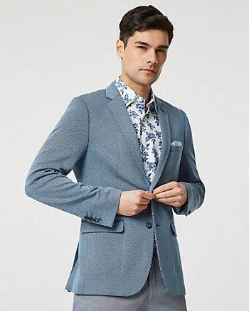 Veston à motif géométrique en tricot