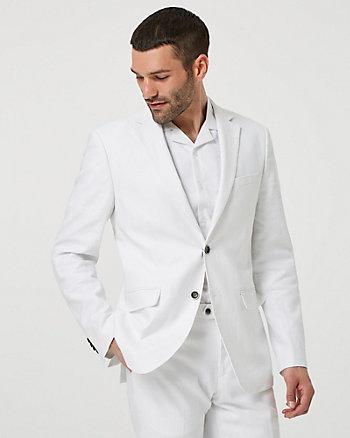 Linen Blend Contemporary Fit Blazer