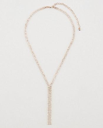 Gem Encrusted Fringe Necklace