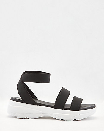 Elastic Band Flatform Sandal