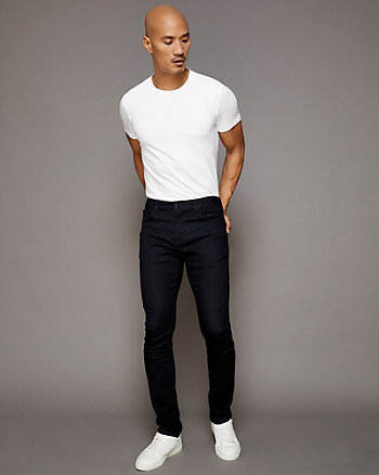 Stretch Denim Straight Leg Pant