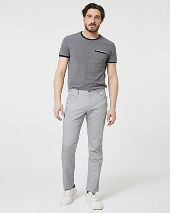 Pantalon en mélange de coton extensible