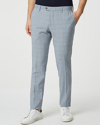 Glen Check Printed Viscose Blend Pant