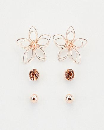 Set of Three Earrings