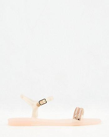 Sandale à bout carré en plastique