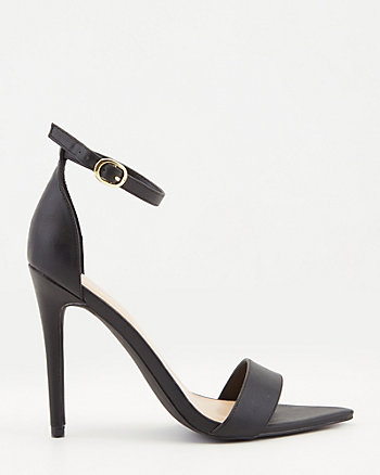 Faux Leather Pointy Toe Sandal