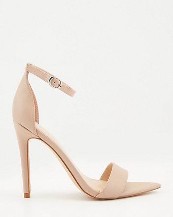 Sandale à bout pointu en similicuir