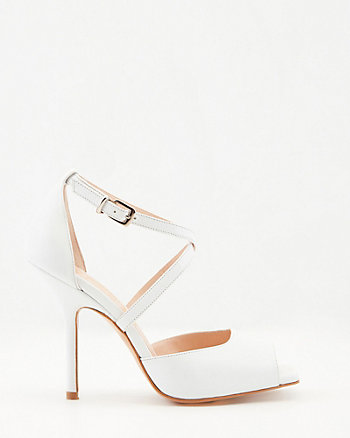 Italian-Made Leather Square Toe Sandal