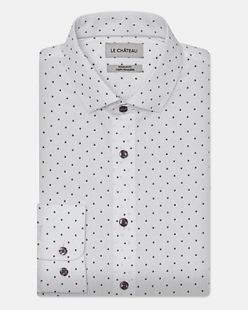 Geo Print Cotton Regular Fit Shirt