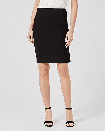 Ponte Knit High Waist Pencil Skirt