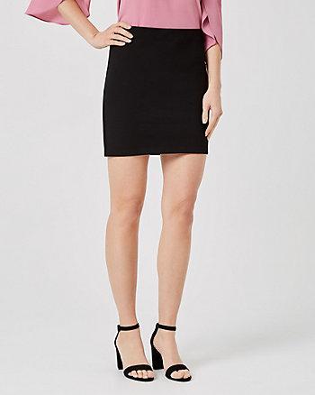 Ponte Knit Mini Skirt