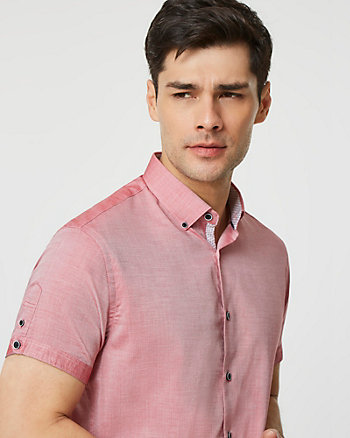 Cotton Tailored Fit Short Sleeve Shirt