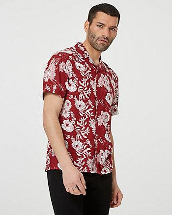 Chemise à motif floral en viscose