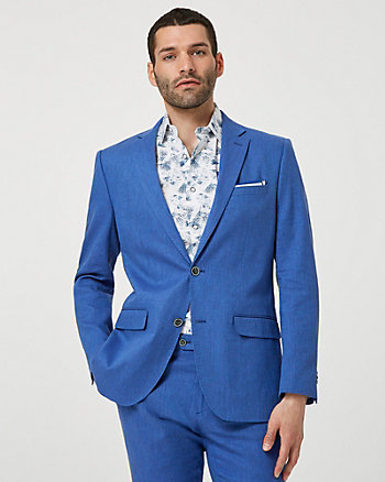 Linen Blend Executive Fit Blazer