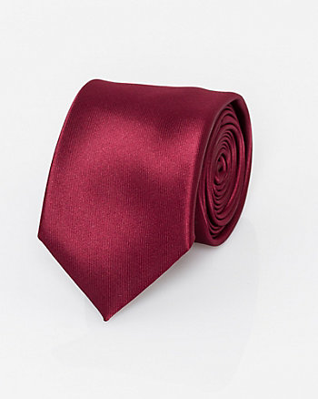 Faux Suede Skinny Tie