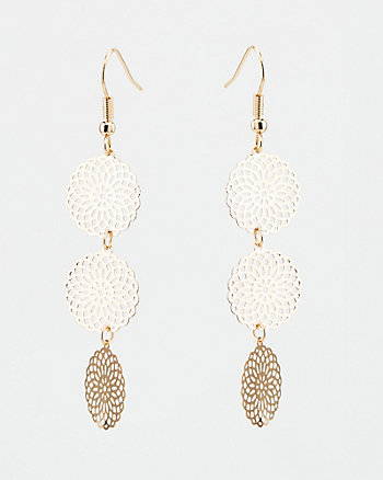 Filigree Dreamcatcher Drop Earrings