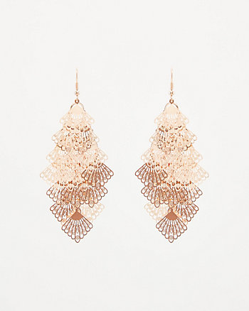 Filigree Chandelier Drop Earrings