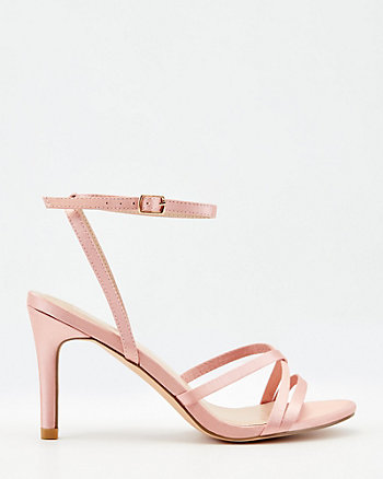 Strappy Satin Round Toe Sandal