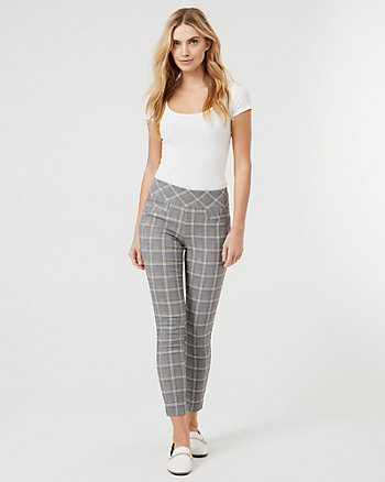 Tech Stretch Check Print Skinny Leg Pant