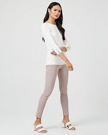 Check Print Skinny Leg Pant