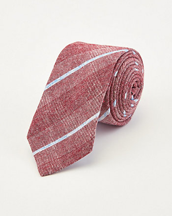 Cravate rayée en coton