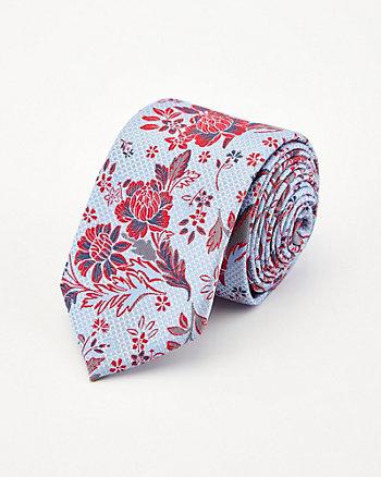 Cravate à motif floral